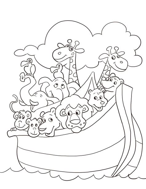 Year School Outlines by Free Noah S Ark Coloring Pages Noah S Ark Coloring Page Noah Free Sunday