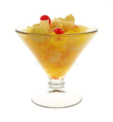 S W Fruit Cocktail fruit cocktail glass front view stock image image of