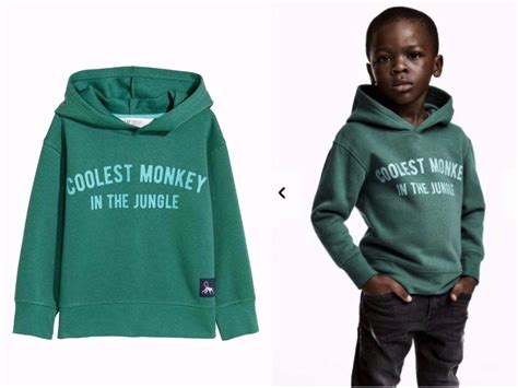 M I T H h m apologizes for selling a coolest monkey sweatshirt