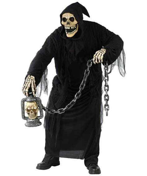 adult grave ghoul  size ghost halloween costume