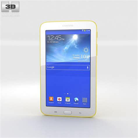 Samsung Tab 3 3d samsung galaxy tab 3 lite yellow 3d model hum3d