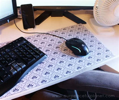 diy desk pad make your own large diy mouse pad