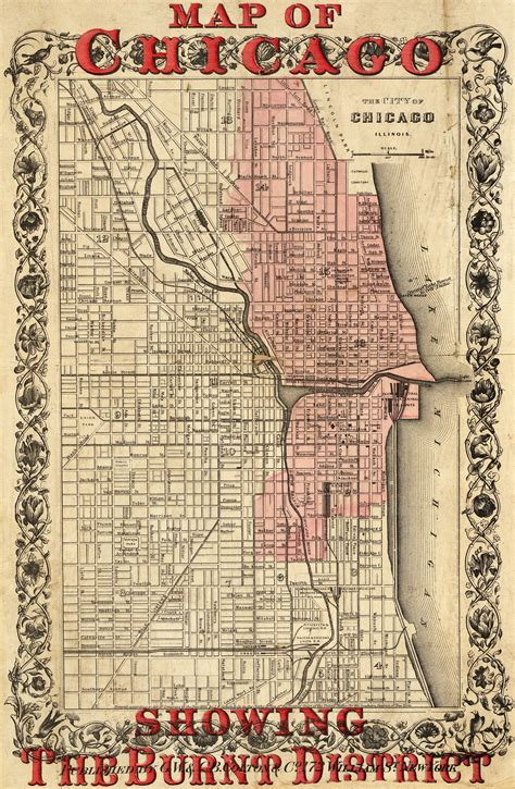 chicago 1871 map the great chicago started 141 years ago today