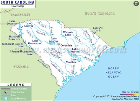map of carolina rivers list of rivers of south carolina