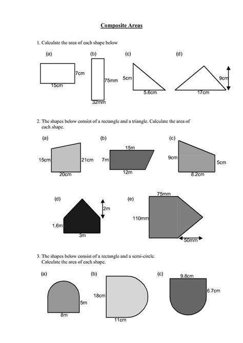 Area Of Compound Shapes Worksheet by 17 Best Images About Area Of Polygons On Math