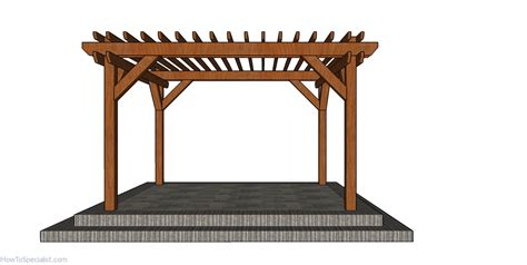 pergola plans side view howtospecialist
