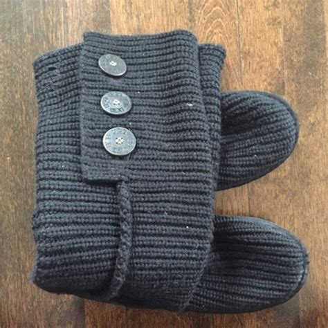 black knitted uggs 54 ugg shoes uggs black knit from s