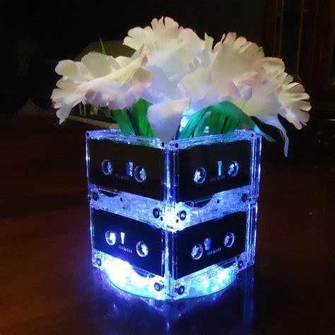 cassette centerpiece 20 themed wedding centerpieces mixtape cassette lights ret
