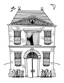 haunted house coloring pages free coloring pages