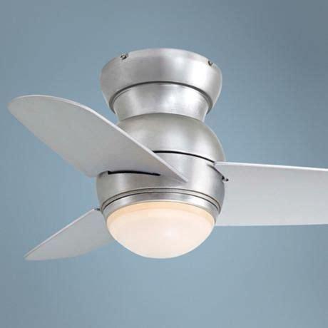 ceiling fan that looks like airplane propeller 26 quot minka aire spacesaver brushed steel hugger ceiling fan