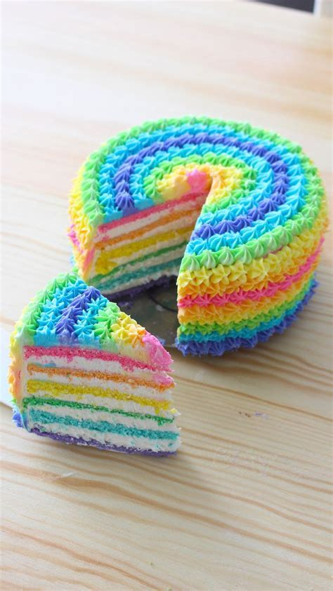 269 best Rainbow Cakes & Desserts images on Pinterest