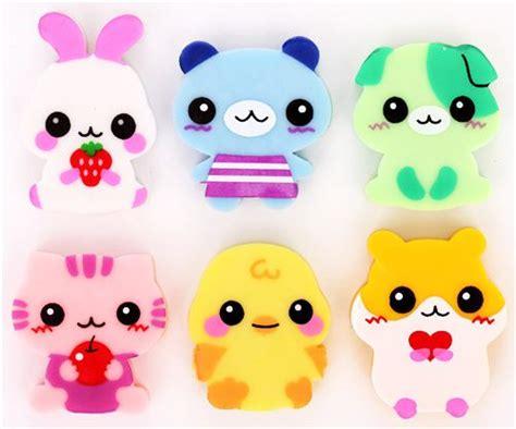 imagenes de gomas kawaii 6 cute baby animals erasers from japan kawaii animal