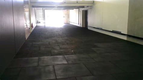 lay install rubber gym flooring youtube