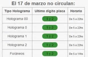 calendario doble no circula por contingencia calendario doble no circula por contingencia