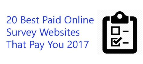 Paid Online Surveys - 20 best paid online survey websites that pay you 2017