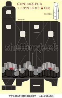 Box Templates On Pinterest Gift Box Templates Box Templates And Gi Wine Glass Gift Box Template