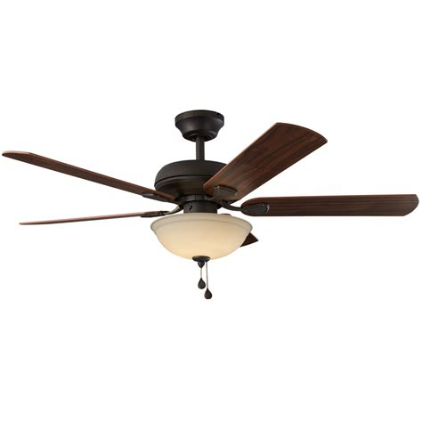 oil rubbed bronze ceiling fan light kit shop harbor breeze cross branch 52 in oil rubbed bronze