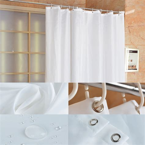 extra long extra wide shower curtain fabric shower curtain plain white extra wide extra long