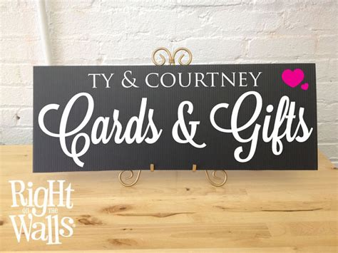 Cards And Gifts Wedding Sign - cards gifts wedding table sign custom personalized