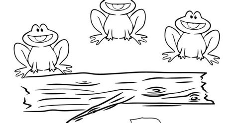 5 speckled frogs coloring page five little speckled frogs coloring picture for kids