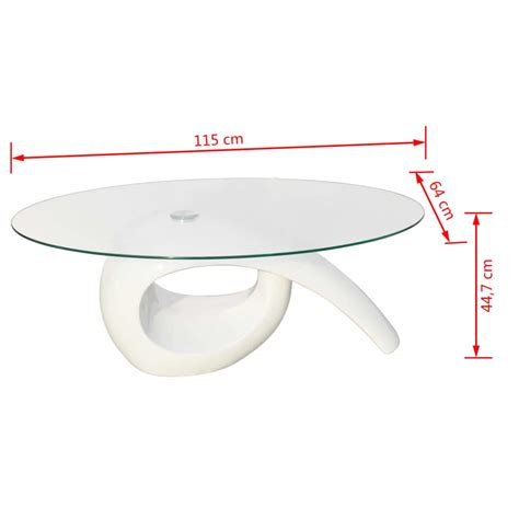 white glass table top glass top coffee table high gloss white vidaxl co uk