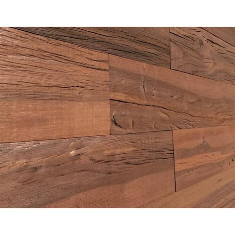 Wooden Panel Avz All New Brown Or 1 4 in x 5 in x 2 ft brown reclaimed easy paneling 3d barn wood wall plank design 6 12