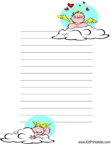 printable angel stationery kid printables printable angel stationery