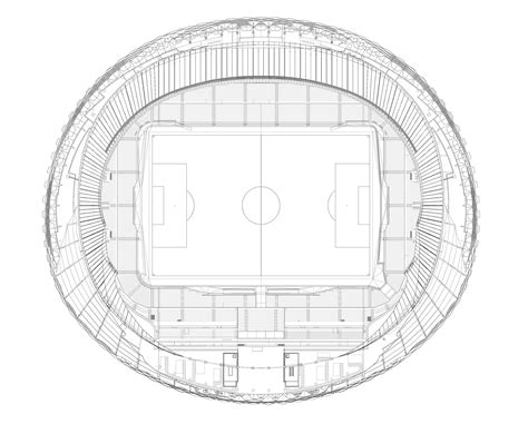 stadium floor plan hazza bin zayed stadium pattern design archdaily
