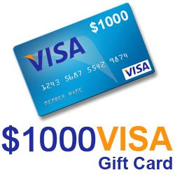 Visa Register Gift Card - win a 1 000 visa gift card