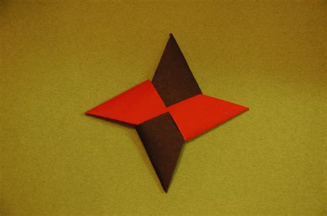Origami Shuriken - origami tutorial how to make an origami ni