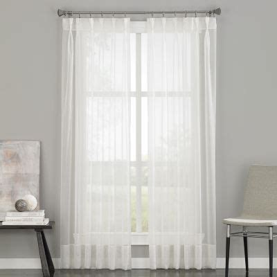 sheer tab curtains soho pinch pleat back tab sheer curtain panel jcpenney