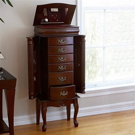 Jewelry Armoire Mahogany by Medium Mahogany Jewelry Armoire 6408522 Hsn
