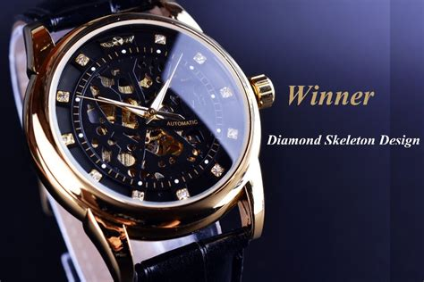 winner royal design black gold montre homme