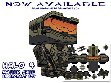 ninjatoes papercraft weblog halo 4 master chief