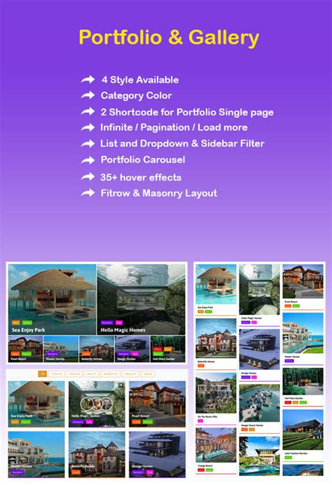 grid layout for portfolio portfolio and gallery grid layout with carousel for