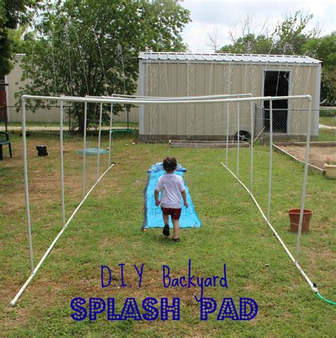 backyard splash pad diy diy splash pad for summer fun year after year