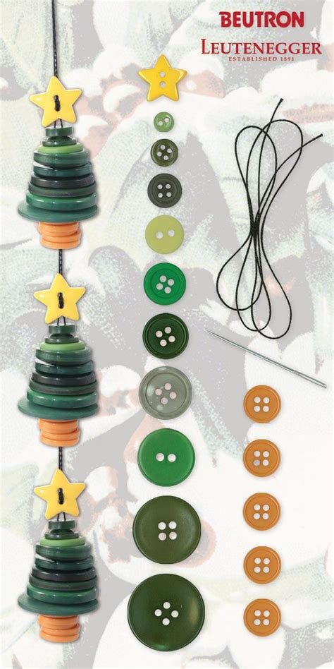 christmas tree garland i love buttons pinterest