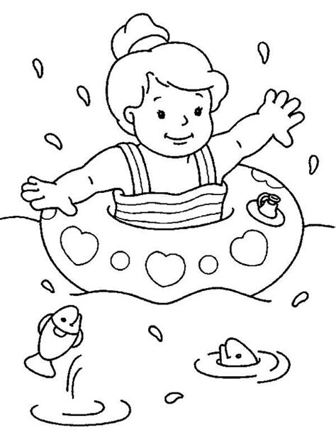 swimming coloring pages free printable coloring pages swimming free best