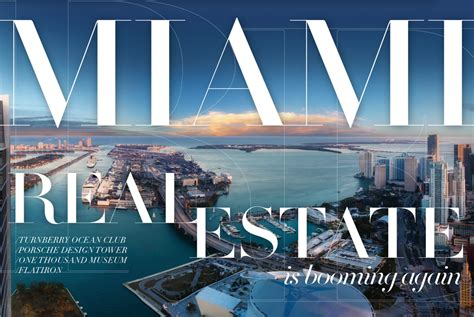 Of Miami Real Estate Mba by Miami Real Estate Is Booming Again In Review Magazine