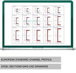 european steel section sizes european standard channel upn steel sections dwg cad