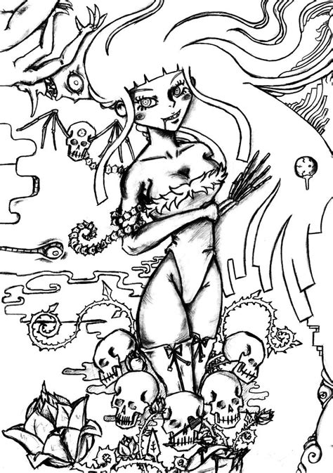 skull and roses coloring pages sketch coloring page