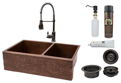 rustic kitchen sinks kitchen sink faucet combo scroll design rustic kitchen