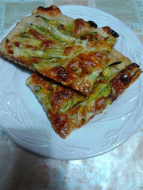 pizza con i fiori di zucca ricerca ricette con pizza ai fiori di zucca