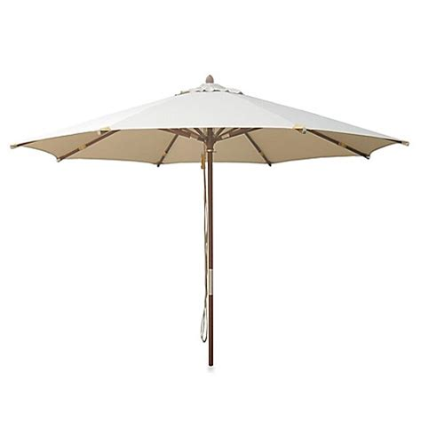 10 Foot Patio Umbrella 10 Foot Deluxe Eucalyptus Wood Patio Umbrella Www Bedbathandbeyond