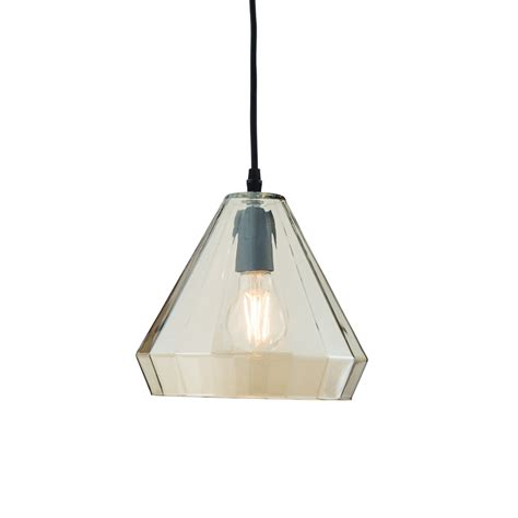 endon 61502 gibson 1 light matt black glass ceiling pendant