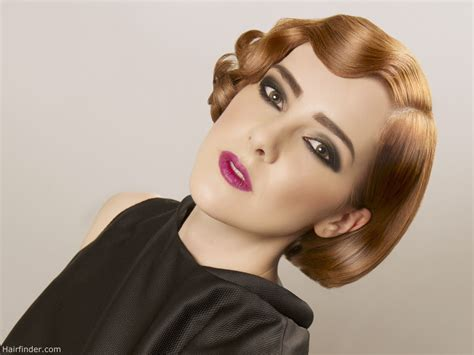 hairstyle 2 1 2 inch haircut short bob with retro finger waves