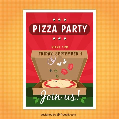 pizza flyer template free pizza flyer vector free