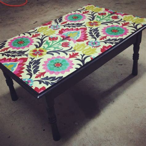 Decoupage Table Top With Fabric - 25 best ideas about decoupage coffee table on