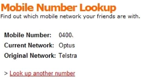 Lookup Australia Mobile Mobile Number Lookup Tells You Which Network A Contact Uses Lifehacker Australia