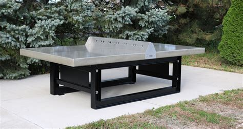 concrete outdoor table outdoor concrete ping pong tennis table with steel base